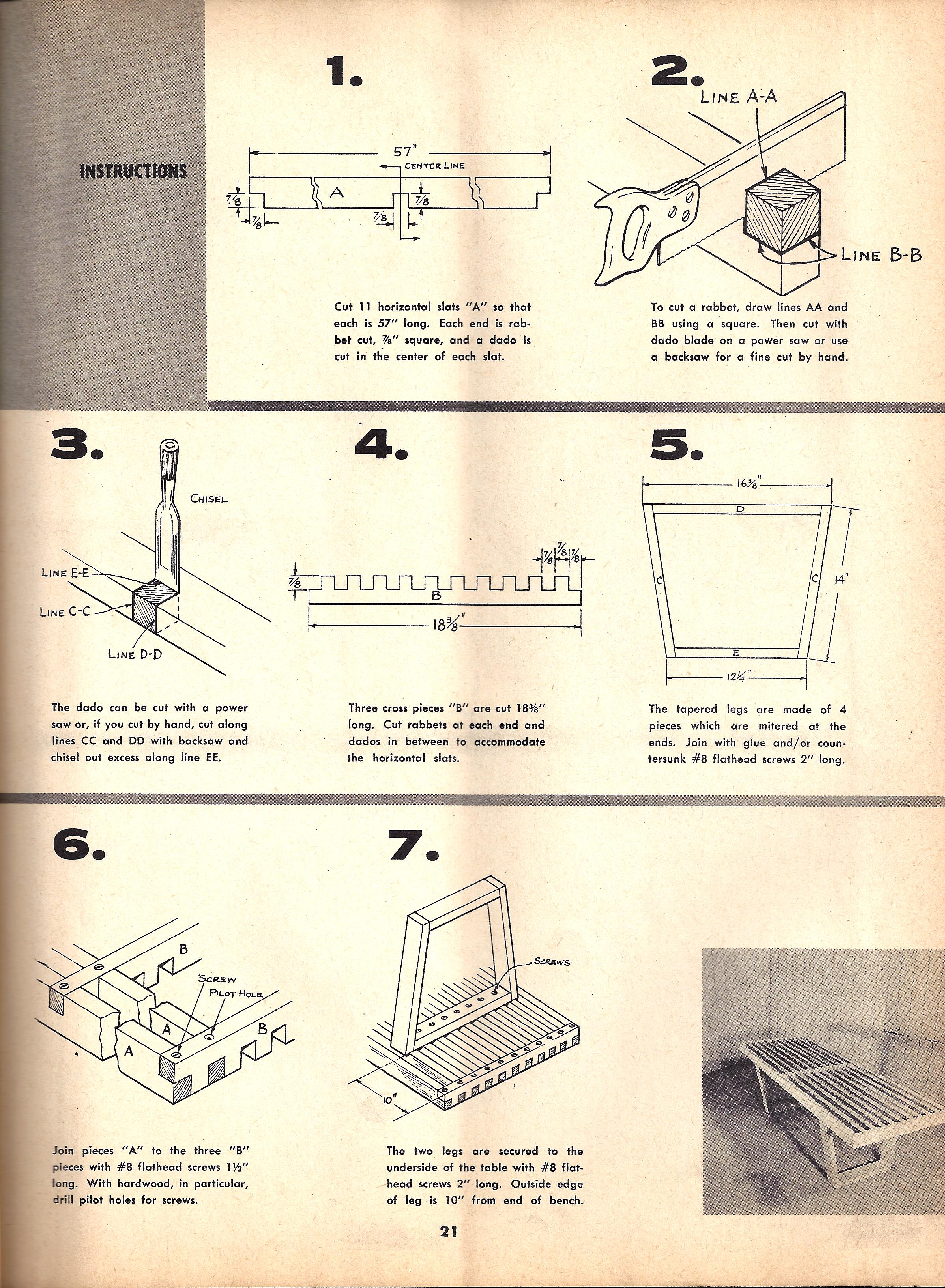 Vintage Diy Instructions For Building Your Own Nelson Slat