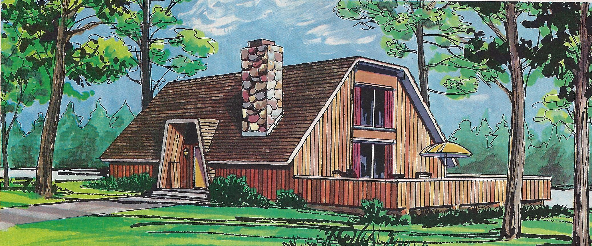 5 pre fab modern home plan designs from 1977 Better Homes