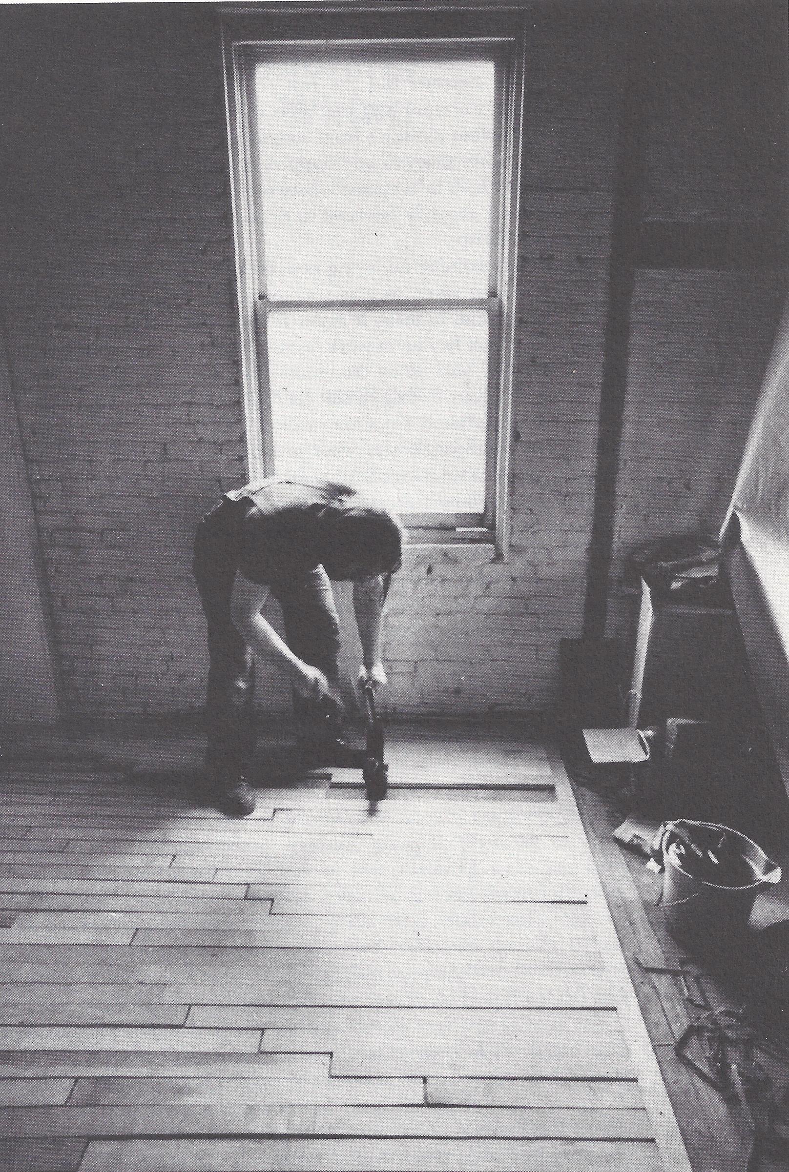 DIY wood floor on top of old floor