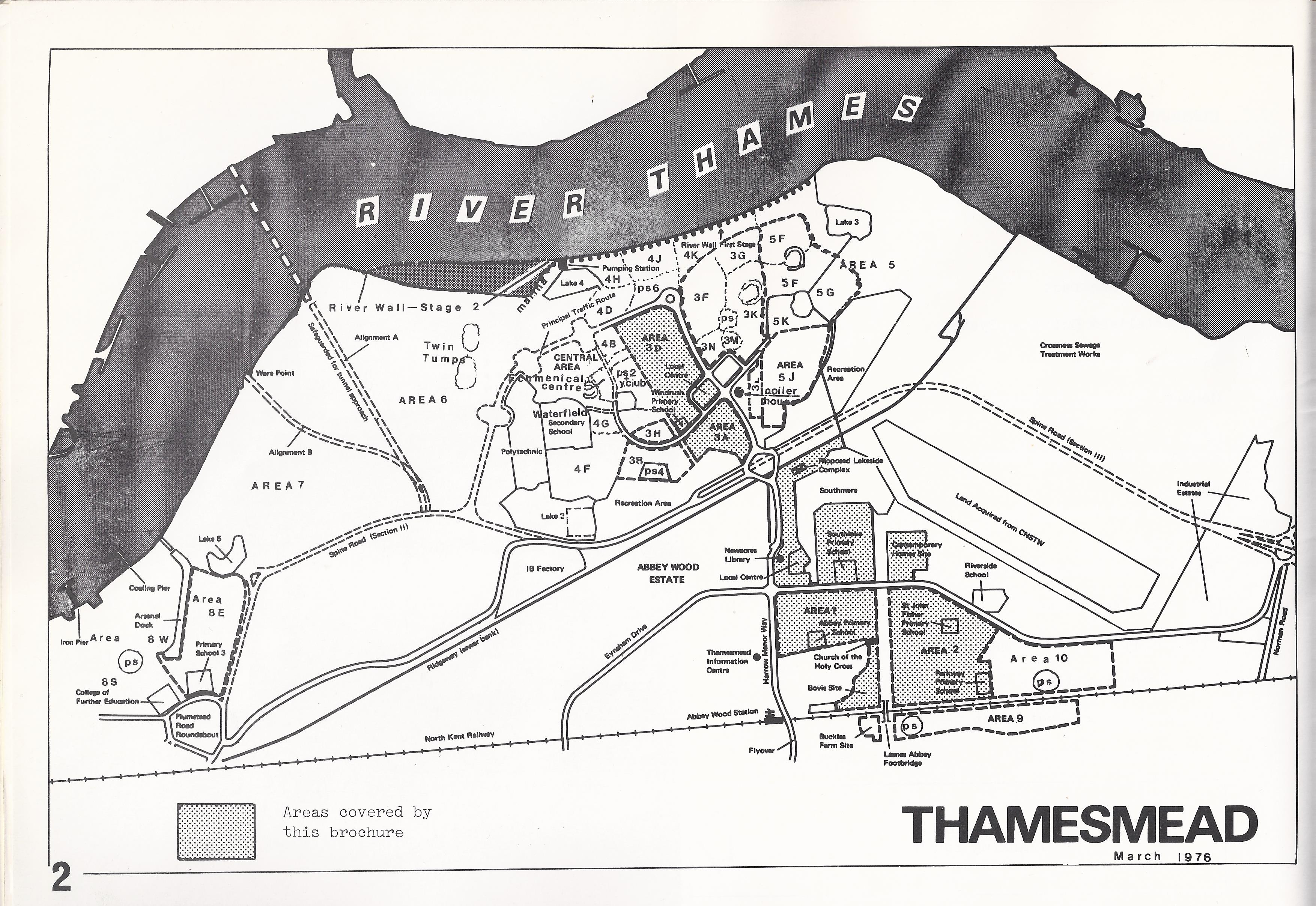 map of thamesmead area london