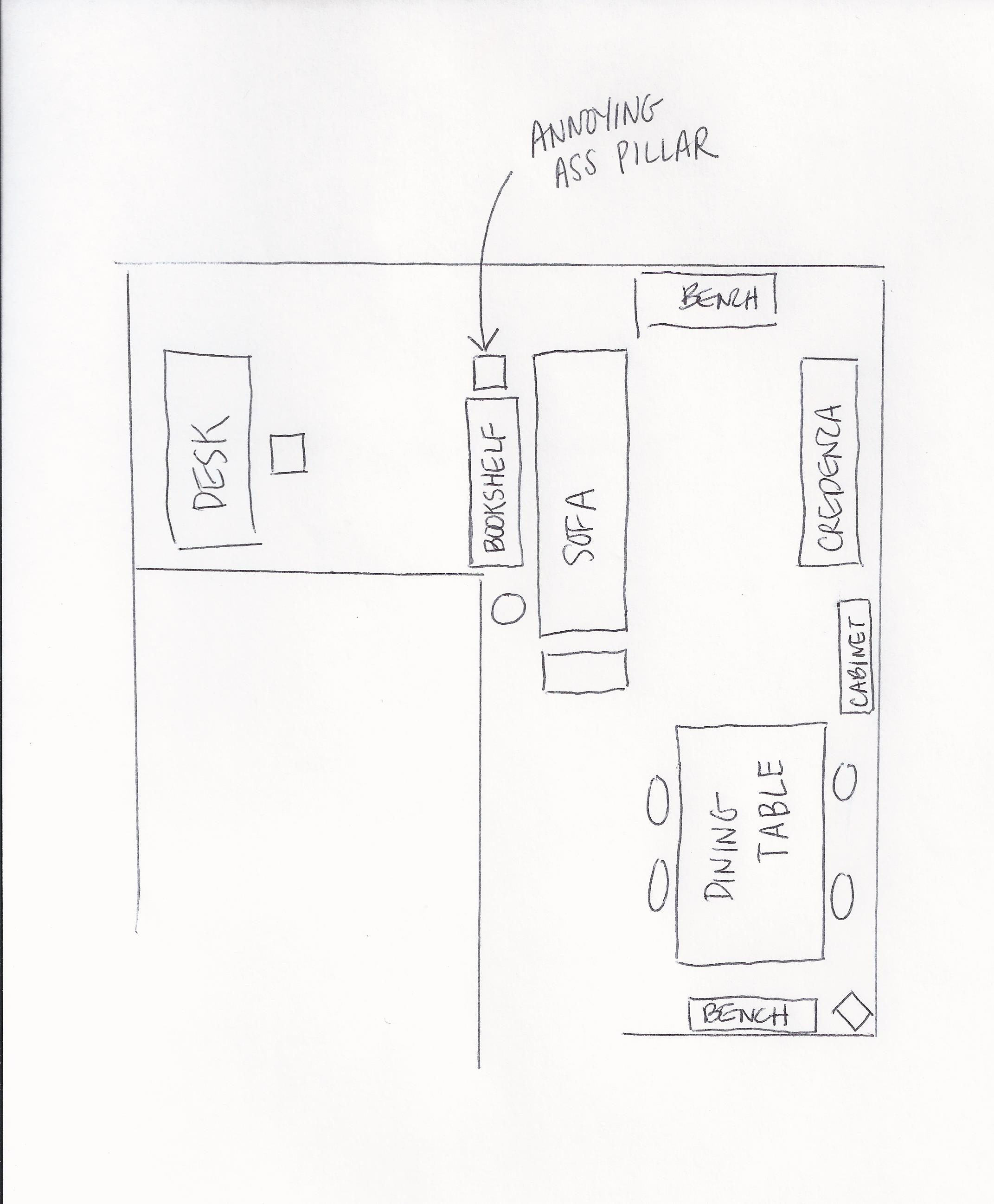 Katherine And Jem Humboldt Apartment Living Room Diagram With F