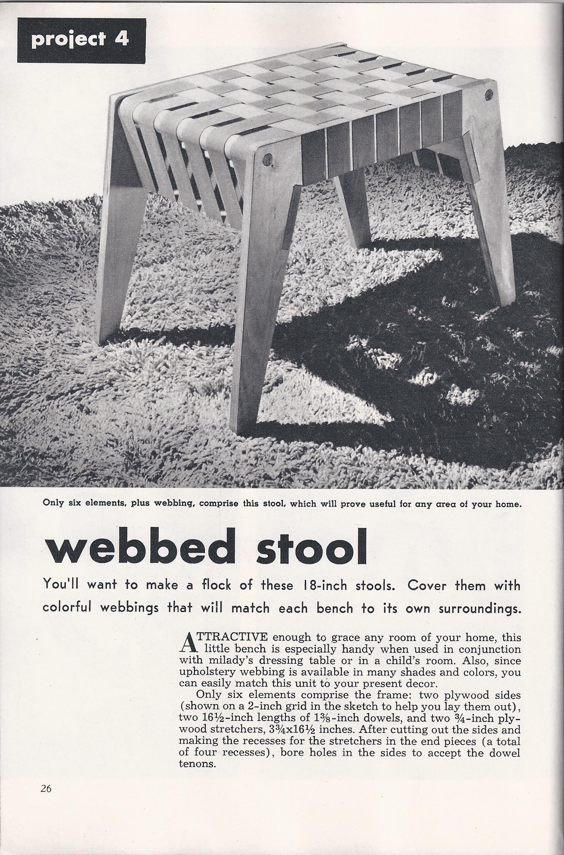 build a modern webbed stool