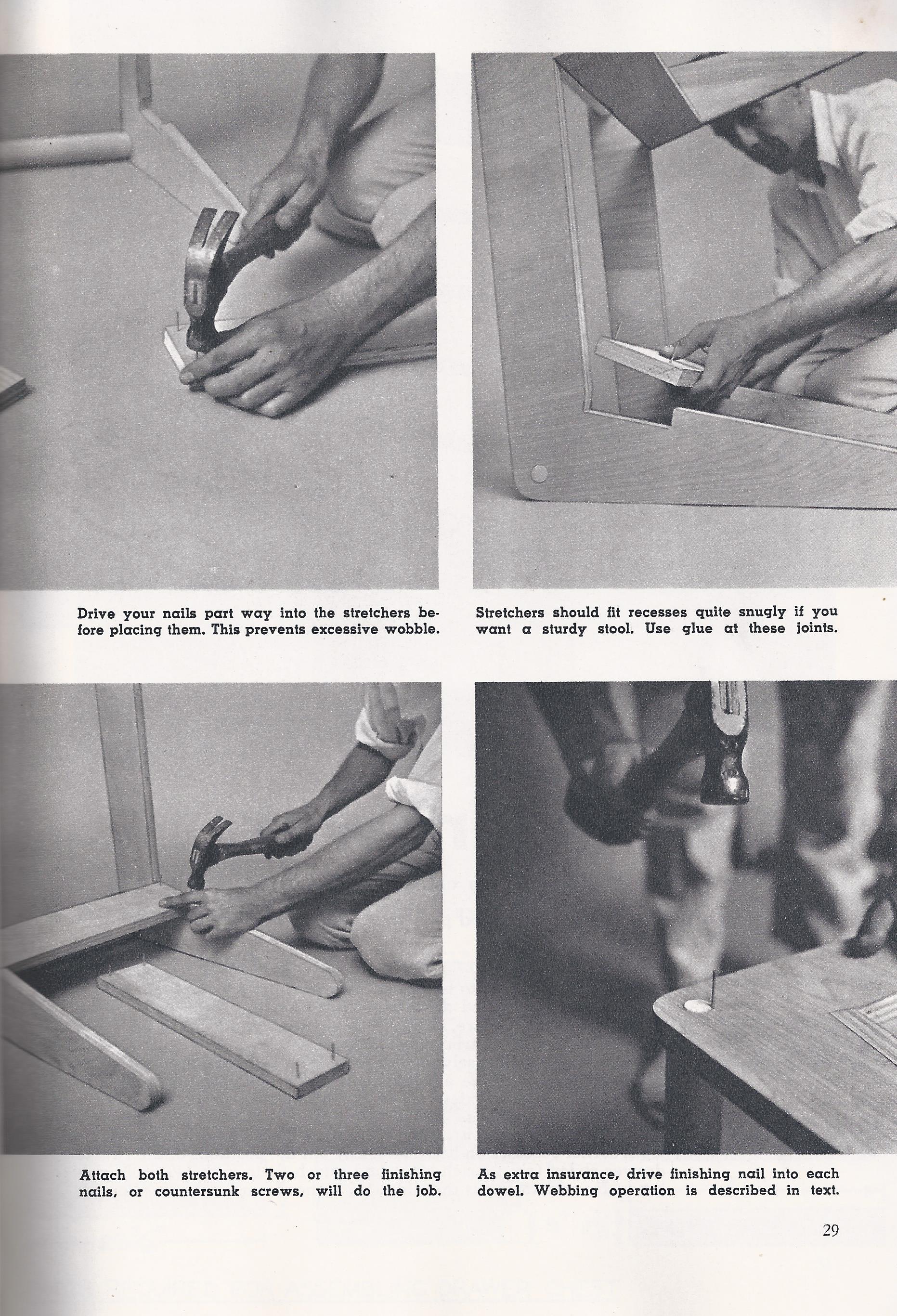 diy build jens risom webbed stool knoll
